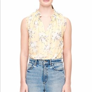 Rebecca Taylor Floral Sleeveless Silk Blouse 8